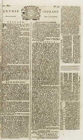 Leydse Courant 1822-08-07