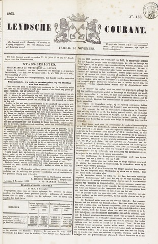 Leydse Courant 1865-11-10