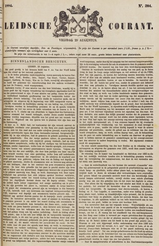 Leydse Courant 1884-08-29