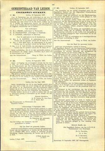Handelingen van de Raad 1907-09-12