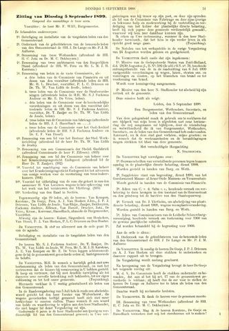 Handelingen van de Raad 1899-09-05