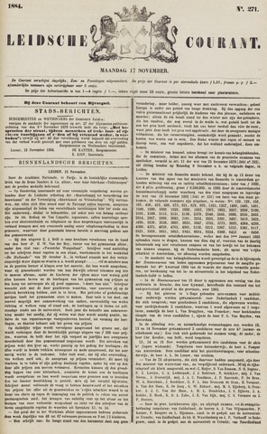 Leydse Courant 1884-11-17