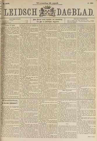 Leidsch Dagblad 1894-04-18
