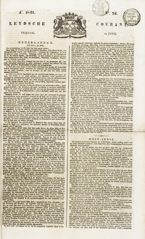 Leydse Courant 1841-06-25
