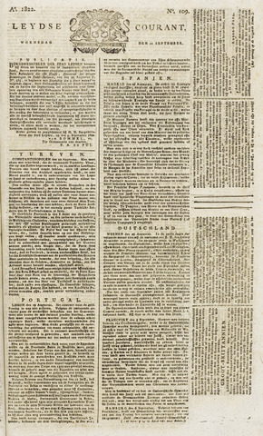Leydse Courant 1822-09-11