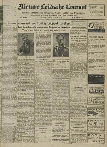 Nieuwe Leidsche Courant 1939-10-27