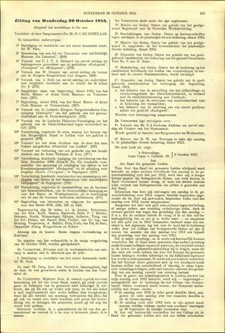 Handelingen van de Raad 1913-10-30