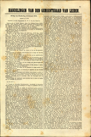 Handelingen van de Raad 1874-02-05