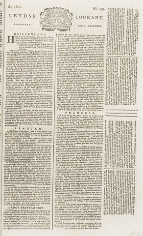 Leydse Courant 1822-12-25
