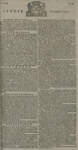 Leydse Courant 1734-05-31