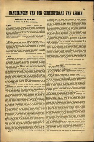 Handelingen van de Raad 1872-11-11