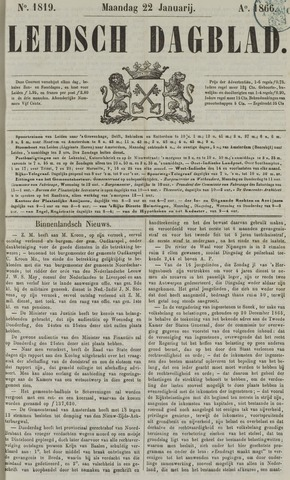 Leidsch Dagblad 1866-01-22