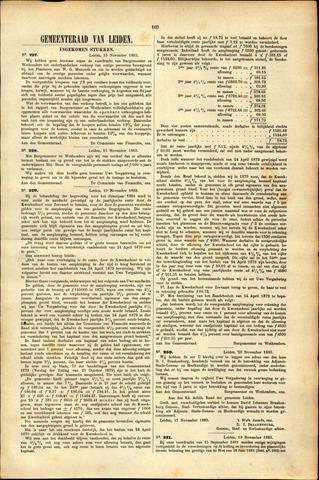 Handelingen van de Raad 1883-11-15