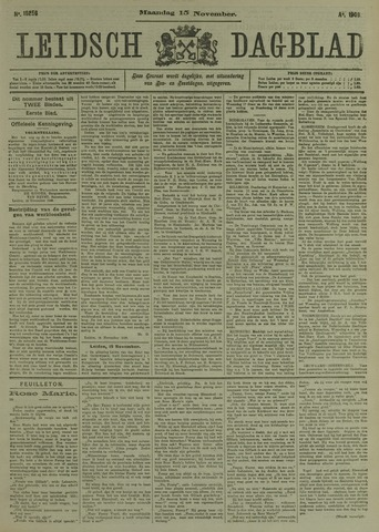 Leidsch Dagblad 1909-11-15