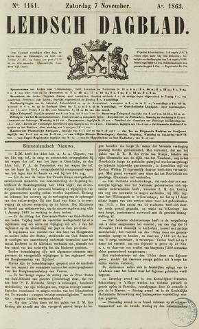 Leidsch Dagblad 1863-11-07