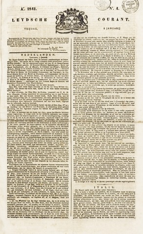 Leydse Courant 1841-01-08