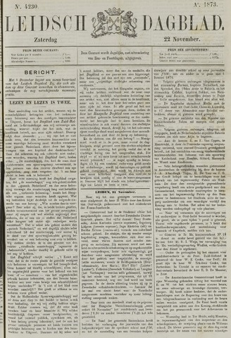 Leidsch Dagblad 1873-11-22