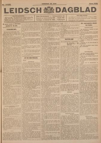 Leidsch Dagblad 1926-06-22