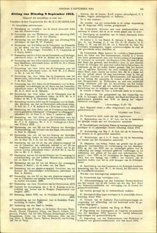 Handelingen van de Raad 1913-09-02