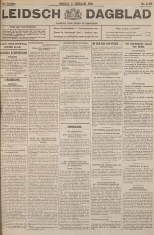 Leidsch Dagblad 1930-02-11