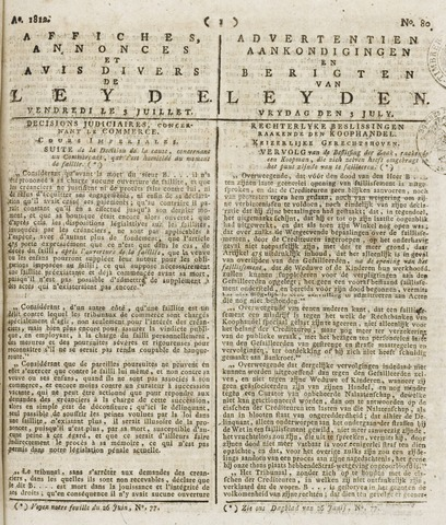 Leydse Courant 1812-07-03