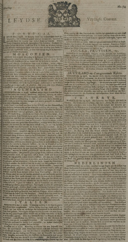 Leydse Courant 1729-05-06