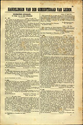 Handelingen van de Raad 1874-04-28