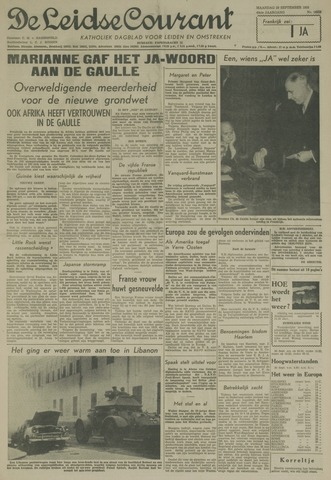 Leidse Courant 1958-09-29