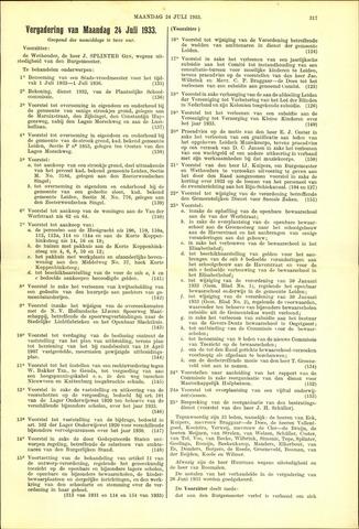 Handelingen van de Raad 1933-07-24