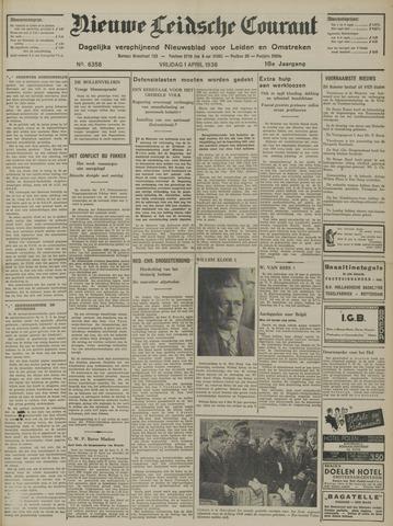 Nieuwe Leidsche Courant 1938-04-01