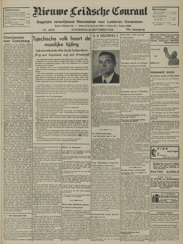 Nieuwe Leidsche Courant 1938-09-22