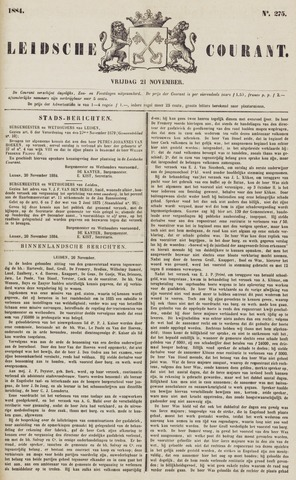 Leydse Courant 1884-11-21