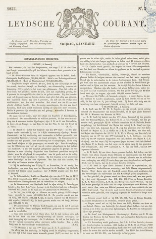 Leydse Courant 1855-01-05