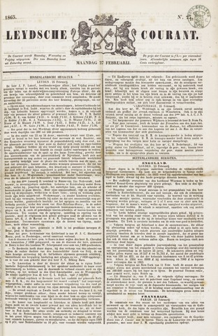 Leydse Courant 1865-02-27
