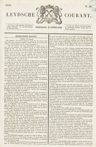 Leydse Courant 1855-02-28
