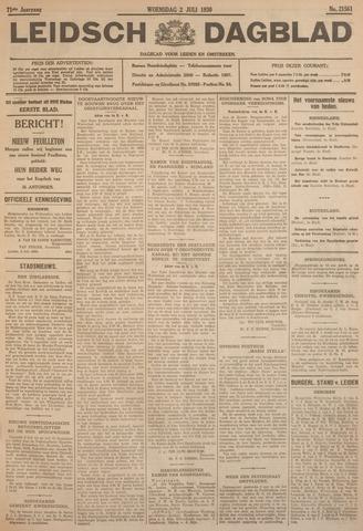 Leidsch Dagblad 1930-07-02