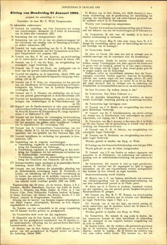 Handelingen van de Raad 1901-01-31