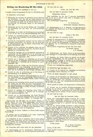 Handelingen van de Raad 1915-05-20