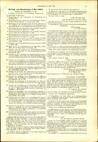 Handelingen van de Raad 1904-05-05