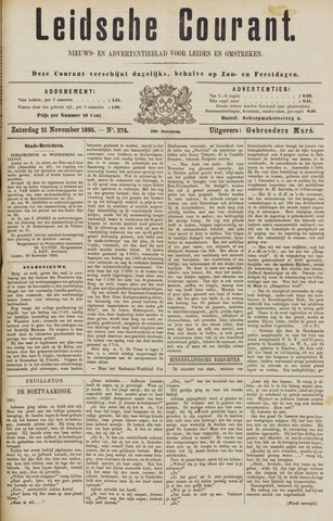 Leydse Courant 1885-11-21