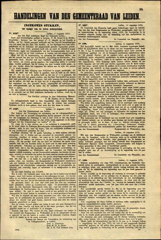 Handelingen van de Raad 1873-08-05