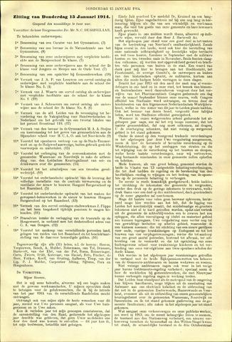 Handelingen van de Raad 1914-01-15