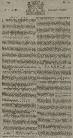 Leydse Courant 1739-09-23