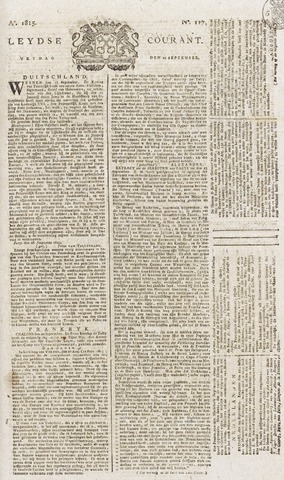 Leydse Courant 1815-09-29