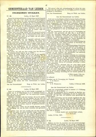 Handelingen van de Raad 1907-03-11