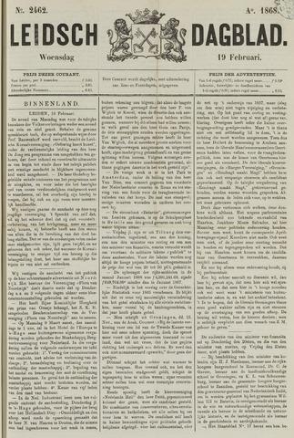 Leidsch Dagblad 1868-02-19