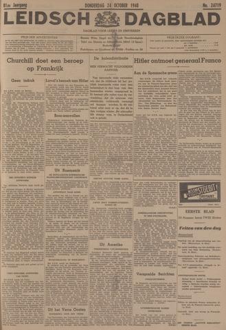 Leidsch Dagblad 1940-10-24