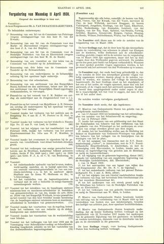 Handelingen van de Raad 1938-04-11