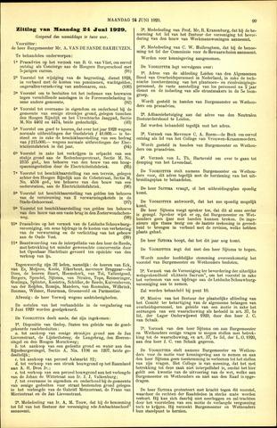 Handelingen van de Raad 1929-06-24