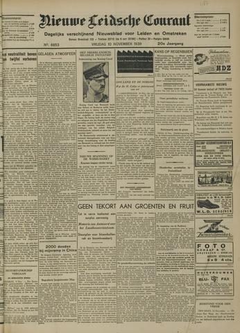 Nieuwe Leidsche Courant 1939-11-10